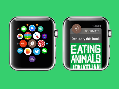 Bookmate for Apple Watch apple watch ui bookmate