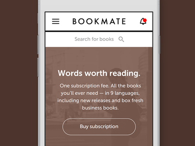 Mobile version of Bookmate