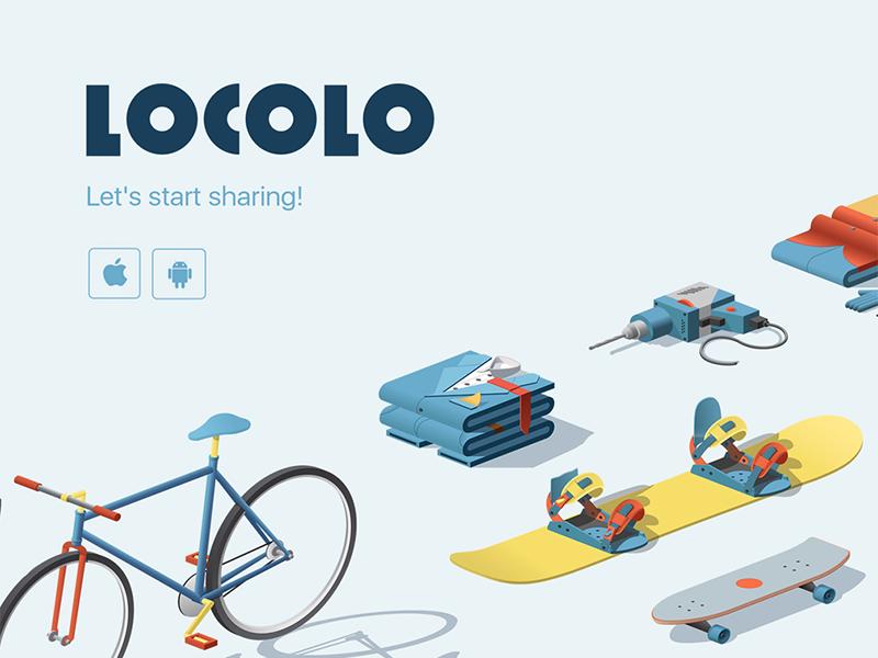Locolo brand logo application id id