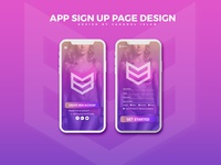 App Sign Up Page Design