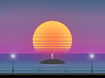 Vasto Sunset dribbble romano gabriele 2017 sunset drawing vast tramonto disegno vasto