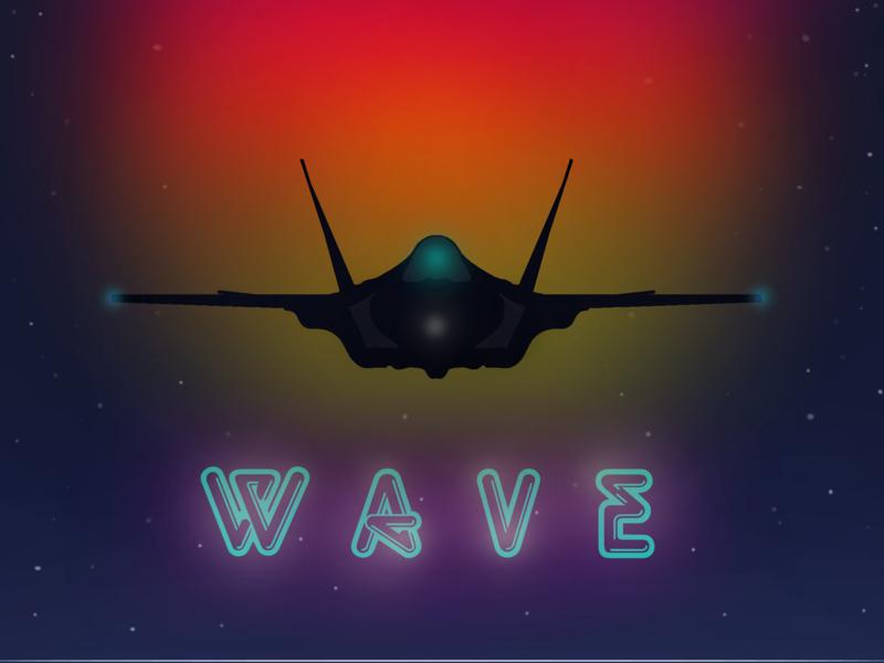 jet '80 notte night cielo sky tramonto sunset wave 80 80s