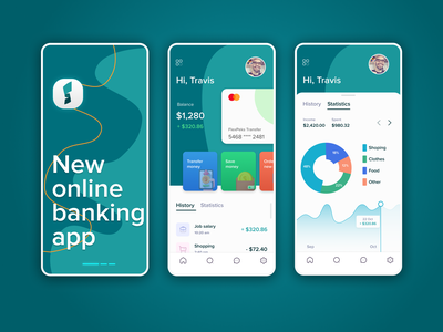 S-Banking mobile app | UI Design logo graphic design web design mobile app @interface @mobile @ui @web @vasilkooov @dribbble
