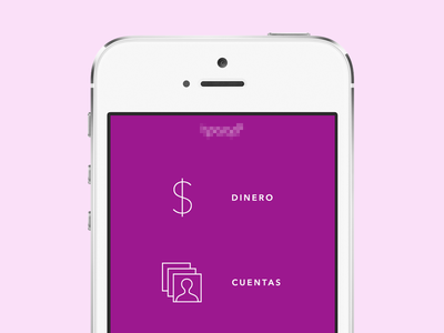 Mobile Payment Redesign mobile payment transfer account finance welcome minimal icon money spanish latin america