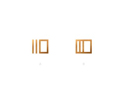 Card Mark card logo mark brand identity metallic shine stack deck