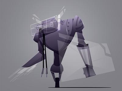 m_machine character design cartoon robot
