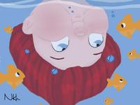 Curious diver