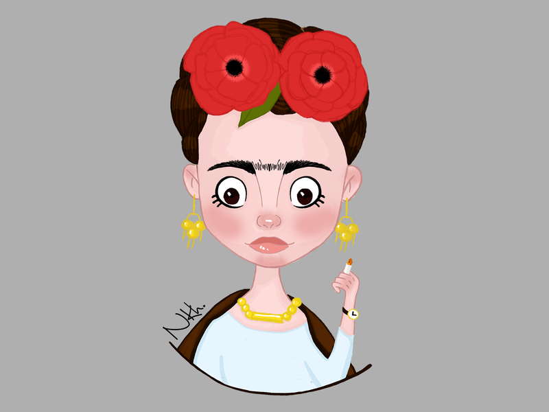 Frida Kahlo hero concept design fashion book illustration kids illustration character art character illustrator illustration gigital art creative