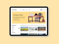 Landing Page - Design Exploration conceptual design fun activity ux categories landing page website design ui