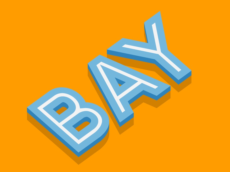 BAY - Free Illustrator Text Effect bay illustrator freebie vector text effect ai appearance free summer colors