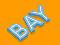 BAY - Free Illustrator Text Effect