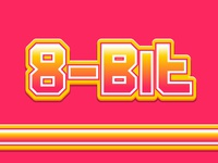 8bit - Free Text Effect Appearance rebound text effect illustrator free freebie appearance vector colors ai typography pink