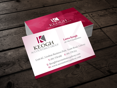 Keogh Accounancy Gropu stationery design accountant logo design business card