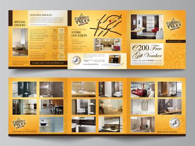 Classic Tiles Mini Brochure gold gallery brochure tiles brochure design mini brochure