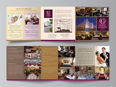 Clybaun Hotel Brochure Design print design hotel brochure