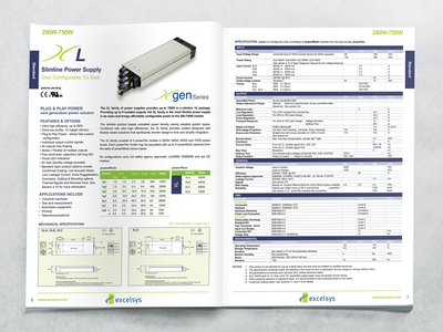 Excelsys Brochure data sheet print design catalogue design brochure design quark xpress quarkxpress