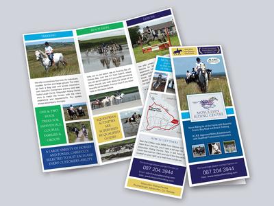 Moycullen Tiding Center brochure horses print design brochure