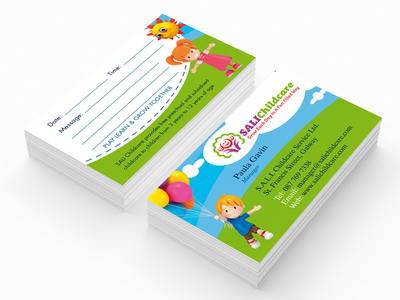 Childcare business card design kids childcare business card