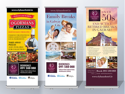 Hotel pull-up display stands display stand pull-up hotel
