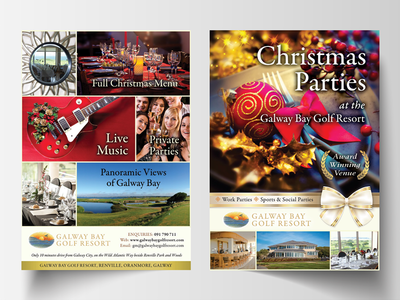 Christmas Parties flyer design christmas print design flyer