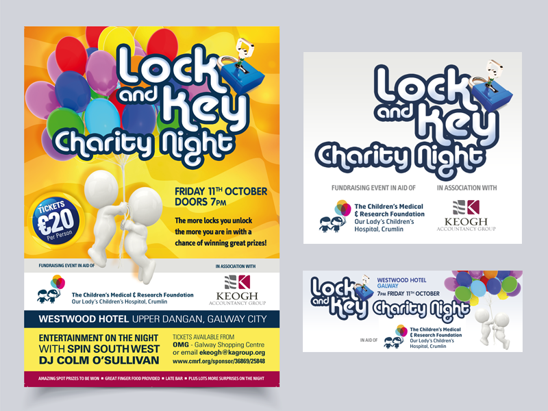 Charity Night poster design facebook facebook banner charity poster