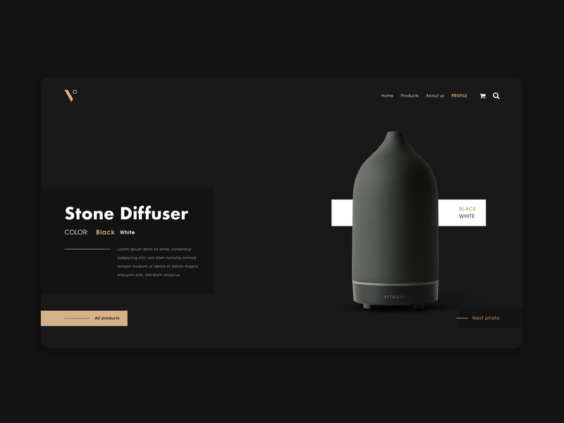 Vitruvi landing page eshop dark black e-shop webdesign design eshop