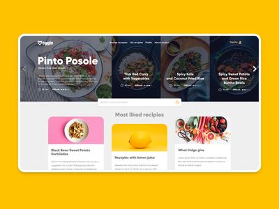 Veggie website design