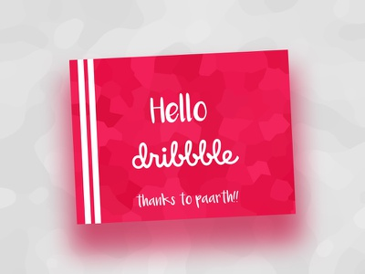 Hello! awesome creative inspiration debut dribbble invite debut