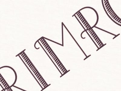 Lettering for a Logo