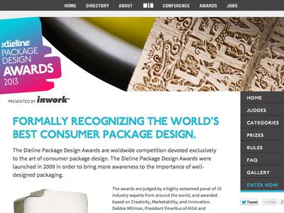 The Dieline Package Design Awards Website