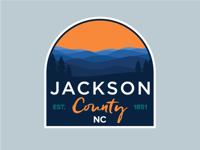 Jackson County Sticker sticker outdoor adventure north carolina county park landscape badge trees jackson county mountains