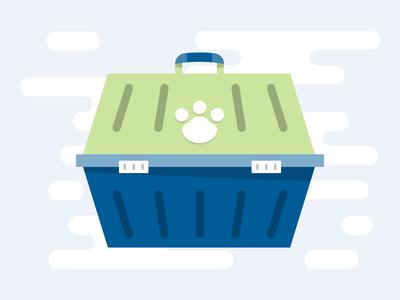 Dog Crate - Spot Illustration