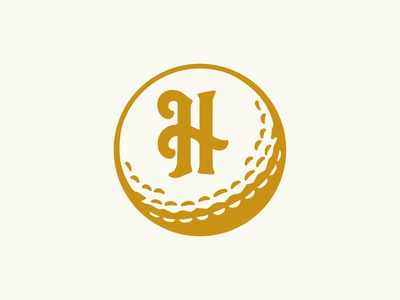 Harlestons Reject | Secondary Mark brand identity apparel logo reject golf course charleston secondary logo secondary mark h ball golf
