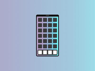 Phone gradient illustration phone app phone design