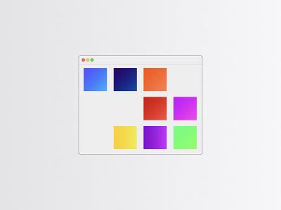 Website illustration gradient design website