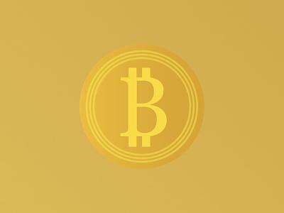 Bitcoin design gradient illustration bitcoin