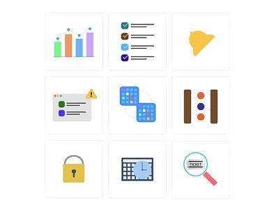 Icons vector todo analytics alert design icon