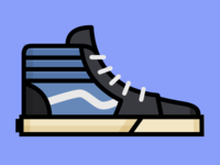 Vans Sk8 Hi illustration