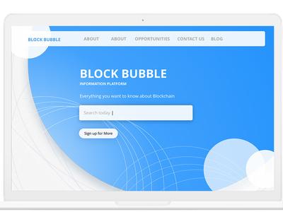 Block Bubble_Search for blockchain company