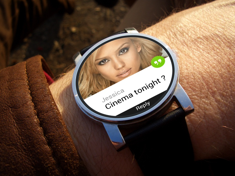 AndroidWear wear android smartwatch ui watch message