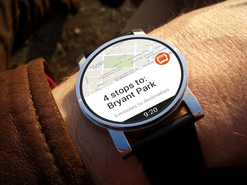 AndroidWear android ui watch maps smartwatch wear