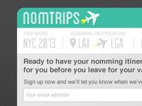 NomTrips Landing page