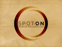 Spot-On Audio Recording Logo