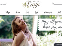 Days Clothing AUS Website Concept