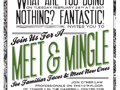 Meet & Greet Invitation by Michelle Hergenrether - Dribbble