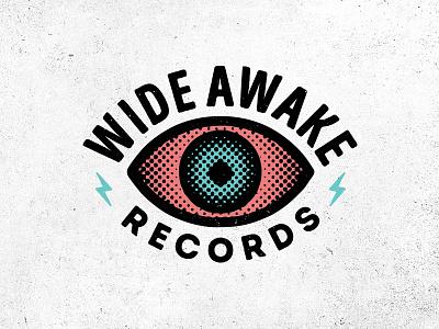 Wide Awake Records 2 record eye logo