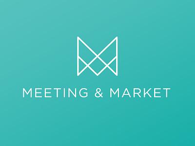 Meeting & Market logo concept mm candle logo market meeting