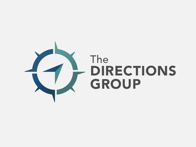 The Directions Group compass rose directions group direction compass logo