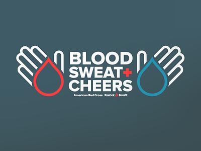 Blood Sweat + Cheers workout fitness reebok finger drop crossfit palm red cross blood sweet logo hands