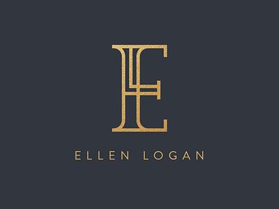 Ellen Logan concept l e line gold jewelry branding el logo
